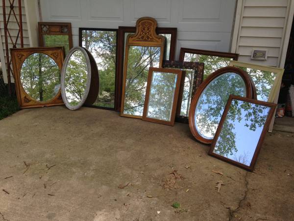 Antique Mirrors $10-$60 each  - 12 antique mirrors priced between $10 and $60, seller has dimensions of each mirror and more photos in their ad.