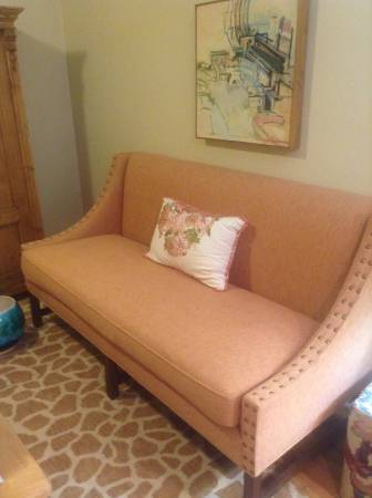 Custom Linen Sofa $690  - Oly Studio custom couch, seller says it retails for $6000.