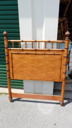 Faux Bamboo Twin Headboard $40  - This headboard would look amazing painted. At $40 this is a really good deal.