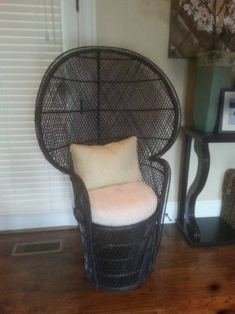 Wicker Peacock Chair $75