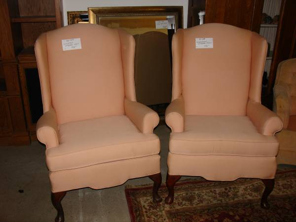 Pair of Wingback Chairs $80 (or $45 each)