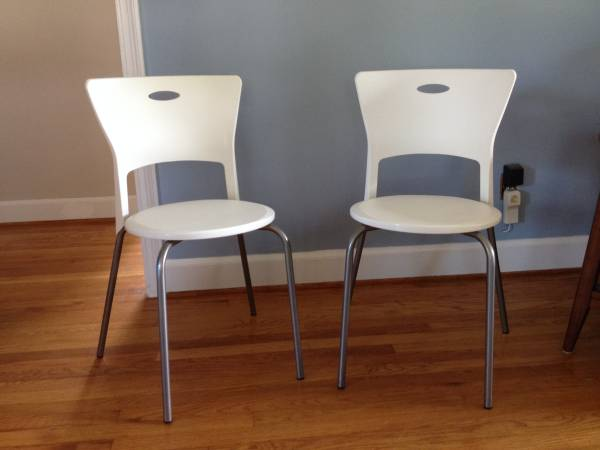IKEA bistro chairs $10 each  - This seller is also selling some  IKEA folding chairs  for $10 each.
