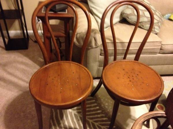 Set of Five Bentwood Chairs $80