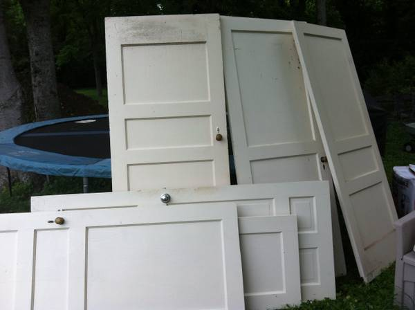 Five Solid Wood Doors $50  - These are from a house from the 30's, a good price for all five.