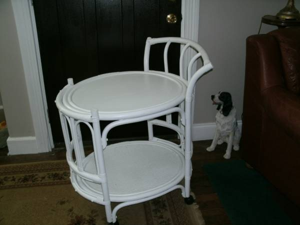 Rattan Serving/Bar Cart $45