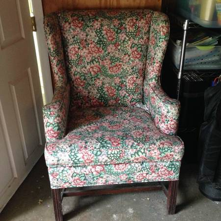 Antique Wingback Chair $25