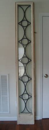 Unique Leaded Glass Window $220  - This is a large piece but would look great hanging on the wall.