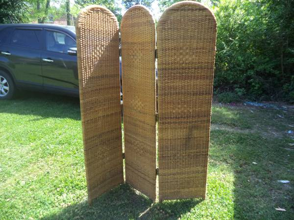Wicker Screen $25 - This could look really nice painted.