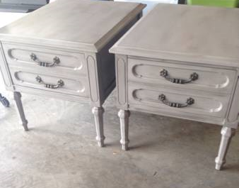 Pair of Antique End Tables $45  - Love this set of end tables and they've already been repainted.