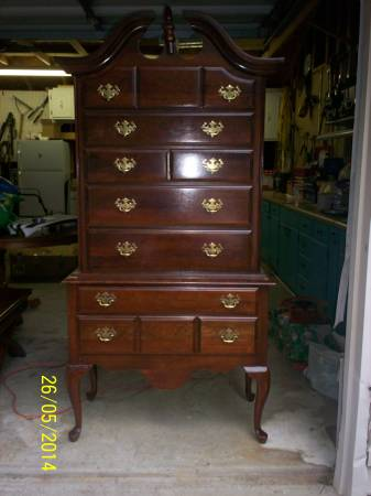 Cherry Highboy $75  - This is a really good price. This piece would look amazing painted.