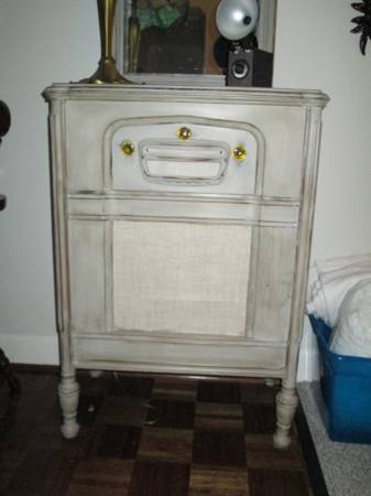 Antique Refinished Record Cabinet $75