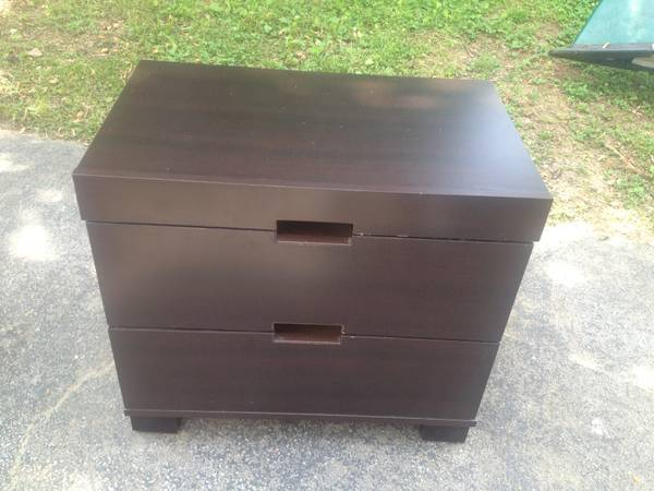 Pair of Nightstands $25  - This is a good price for a set, these could be easily painted and would look nice in a modern bedroom.