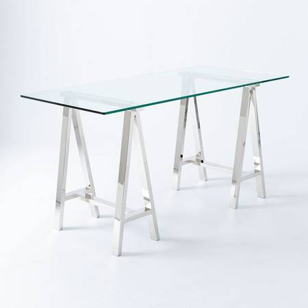 West Elm Glass Top Desk $120