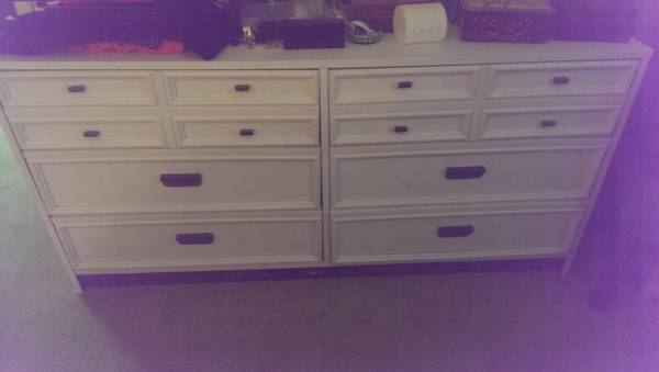 White Dresser $50  - I can't quite tell the condition of this dresser but $50 is a good price.