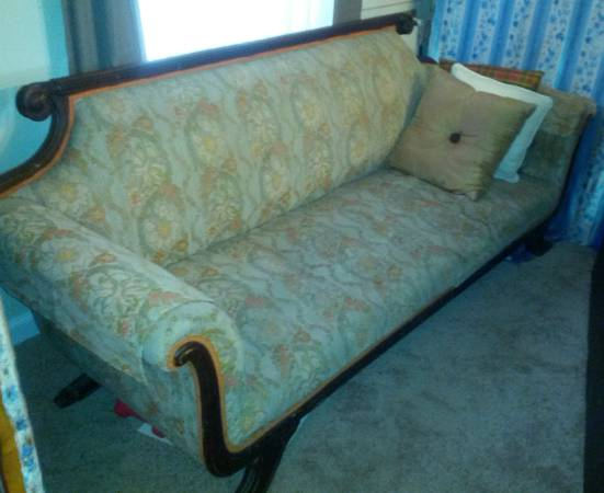 Antique Love Seat $35  - I can't tell the condition of the fabric, but $35 is a great deal would be a good piece to get if you wanted to try out reupholstering.