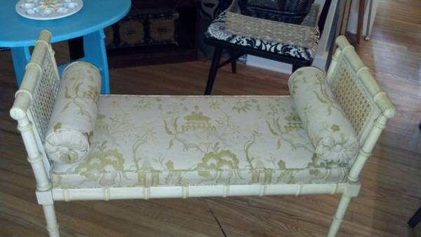Bench $60  - I love this bench, it would be so cute at the end of a bed or in an entry way.