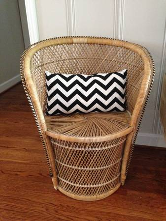 Vintage Wicker Barrel Chair $100  - Love this chair, it has a great vintage yet modern look. One Kings Lane recently was selling a pair of these chairs that had been painted for $449, I actually think it looks great as is, but you could also paint it.