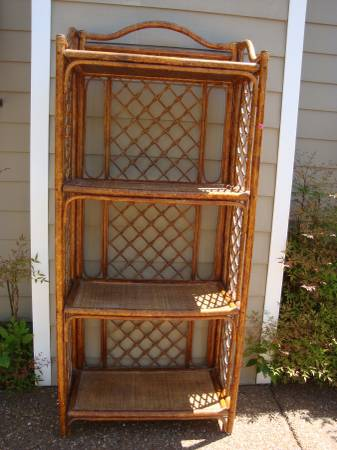 Rattan Shelf $60  - This shelf would look great painted.
