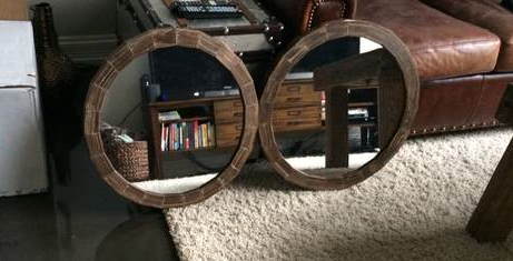 Pair of Rustic Wood Mirrors $80