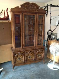 China Cabinet $100 - This piece would be a great candidate for chalk paint.