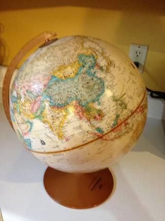 Globe $10  - A globe can be a good decorative accent.