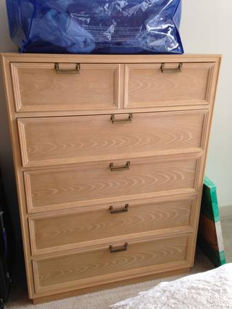 Dresser and 2 Nightstands $100 - I don't love this dresser as is but I think with a coat of paint it could look really nice, plus with 2 nightstands its a good deal.