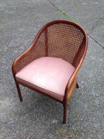 Cane Back Chair $30  - This would look great painted and with a new cushion.