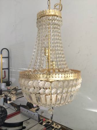Vintage Crystal Chandelier $100 - Another great chandelier - would be really pretty in a dining room.