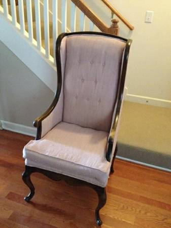 Antique Wingback Chair $100 - I love the really high back on this chair, would be really pretty in a formal living room.