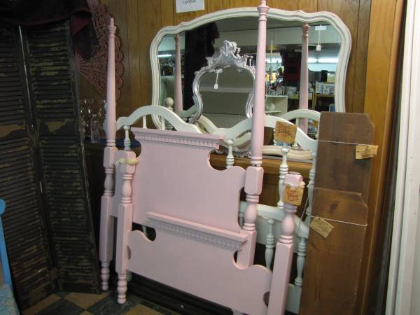 Twin Four Poster Bed $50