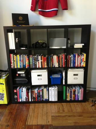 Ikea Expedit Shelving Unit     $50   These shelving units can be really useful especially in a playroom or office.