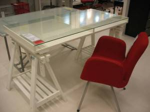 White Ikea Desk     $125