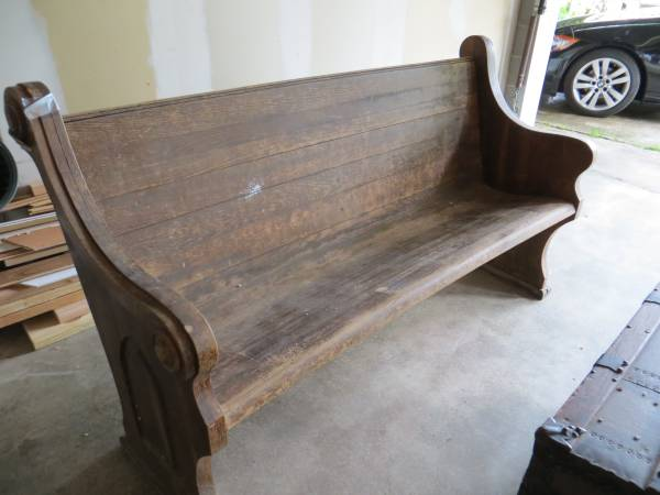 Antique Church Pew     $200   I love this old church pew, can be a really versatile piece, could be great in an entry way or even as seating for a dining set.