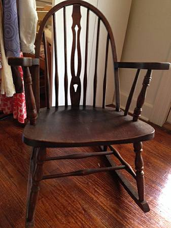 Antique Child's Rocking Chair     $35     View on Craigslist