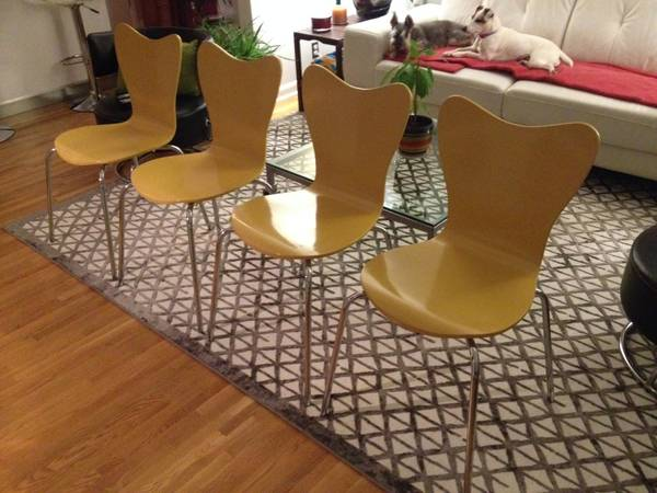 Set of 4 West Elm Dining Chairs     $150     View on Craigslist