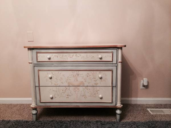 Hand Painted Dresser     $200   This dresser could  also be used as a changing table in a nursery.    View on Craigslist