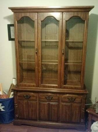 China Cabinet      $40   This china cabinet  is a great deal at $40 and would look completely different with a coat of paint. This piece would be a good candidate for chalk paint.    View on Craigslist