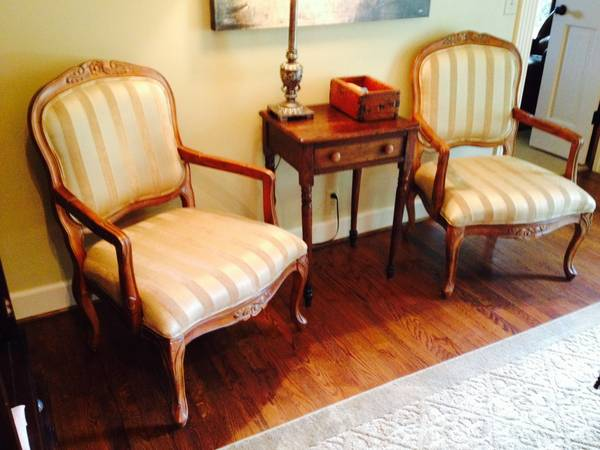 Pair of French Style Chairs     $250     View on Craigslist