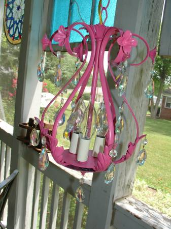 Vintage Chandelier $45 This vintage chandelier has been rewired and repainted, would be cute for a girl's room. Don't forget you can always spray paint it a different color.  View on Craigslist