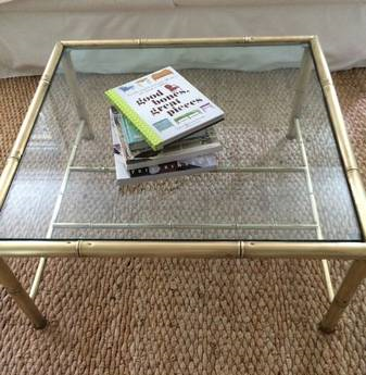 Vintage Brass Bamboo Coffee Table     $300     View on Craigslist