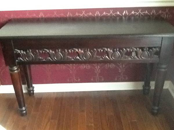 Carved Wood Table $75 I think this table would be really pretty painted.  View on Craigslist