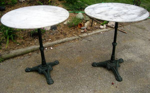 Pair of Antique English Marble Tables $365 View on Craigslist