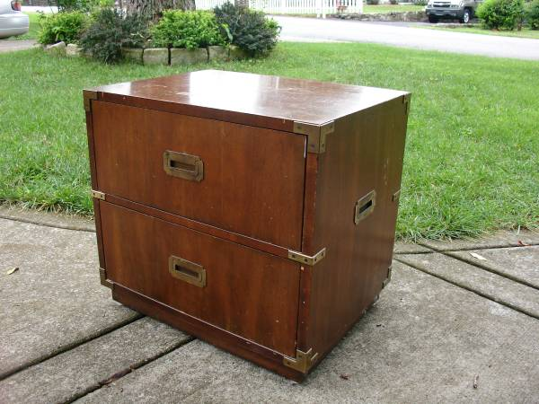 Vintage Campaign Nightstand     $60     See on Pinterest      View on Craigslist