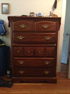 Dresser     $15   This is a great project piece. It would look nice painted and with new hardware.     View on Craigslist