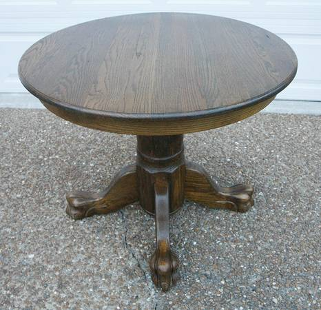 Oak Pedestal Table     $80     View on Craigslist