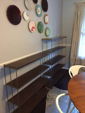 Mid Century Modern Shelves     $35   The smaller one is $35 and the larger one is $50 or you can buy both for $75.    View on Craigslist