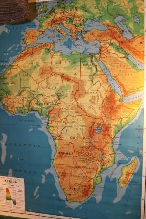 Vintage Africa Map     $145     View on Craigslist