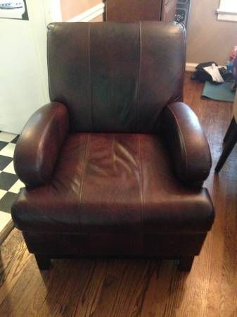 Leather Chair $60 This is a really good deal! View on Craigslist