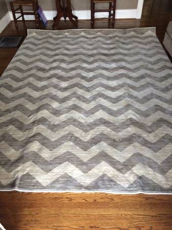7.9' x 10.3' Chevron Rug     $250     View on Craigslist