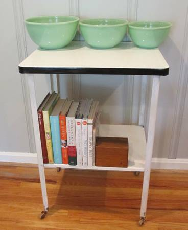 Antique Enamel Cart     $50     View on Craigslist